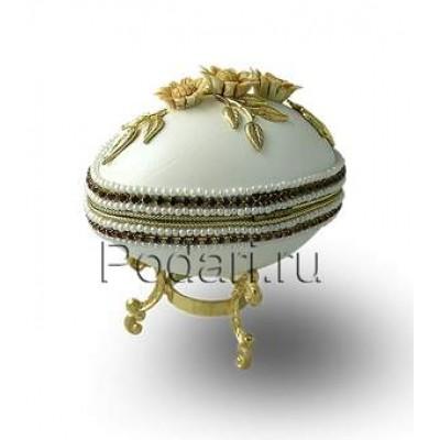 Шкатулка для драгоценностей из натурального гусиного яйца