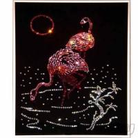 Картина Сваровски - Фламинго