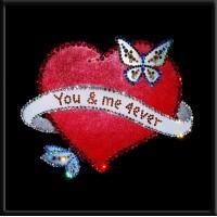 Картины Сваровски - Сердце с бабочками
