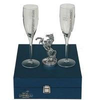 Подарочный набор для шампанского Лошадь