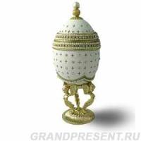 Шкатулка для драгоценностй из натурального гусиного яйца