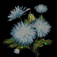 Картины Сваровски - Хризантемы